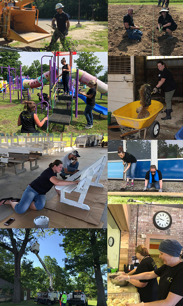 Changing the Landscape Day of Service 2018 Photo Collage