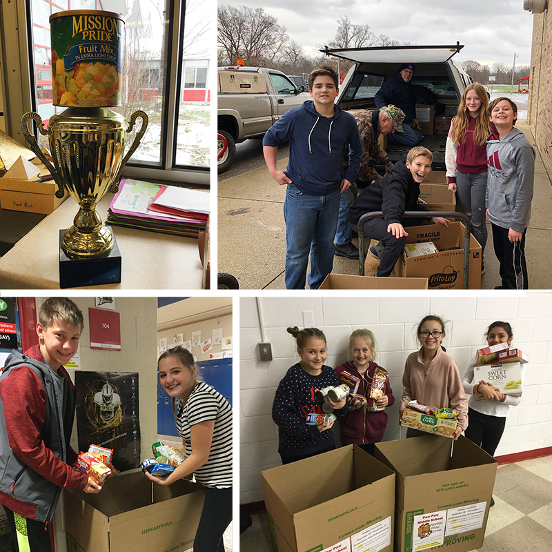 Paw Paw Community School District Food Drive